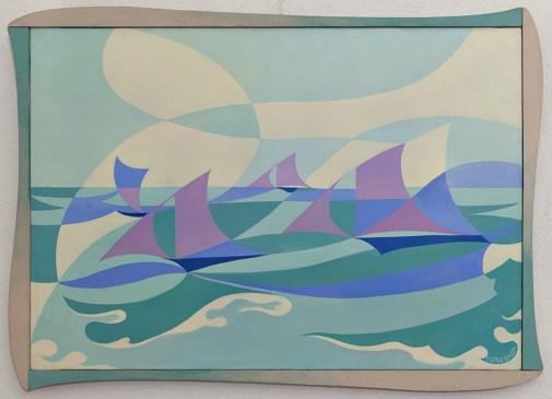 Linea- forza di mare 1919 Giacomo Balla, Olio su tela 70 x 100 cm Palazzo Ricci, Fondazione Cassa di Risparmio di Macerata