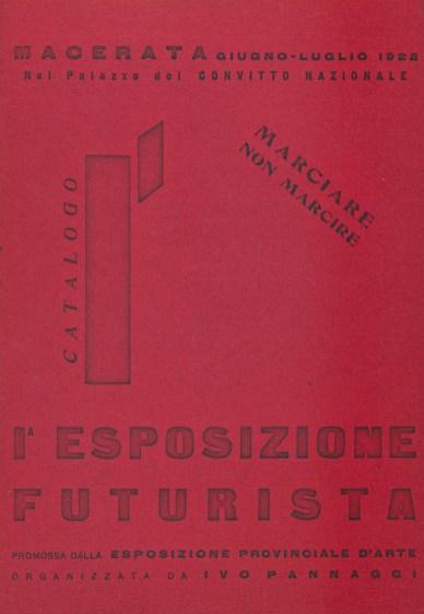 Marciare non marcire Catalogo mostra 1925 Macerata