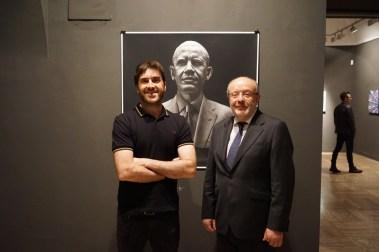 L'artista Kepa Garraza ed il Segretario di Stato Spagnolo, Fernando Garcia Casas