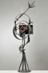 Agenore Fabbri - Personaggio Spaziale 1968 - bronzo - 143 x 26 cm. Courtesy Galleria Open Art, Prato