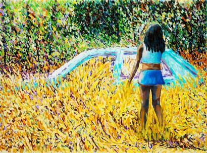 Elena Bellantoni, dreamEscape #5 (24X30cm olio su tela 2017)