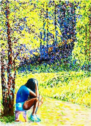 Elena Bellantoni, dreamEscape #6 (50X70cm olio su tela 2017)