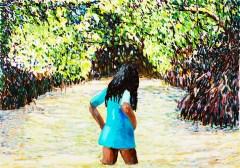 Elena Bellantoni, dremescape#7 (100x70cm olio su tela 2017)