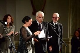 Francesca Alfano Miglietti, il presidente Baratta e Charles Atlas, menzione speciale.