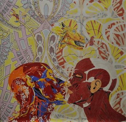 LOW_CANNAVACCIUOLO_Dreaming of cheating, 2015, olio su tela, 214 x 214 cm (una volta intelato 204 x 204 cm)