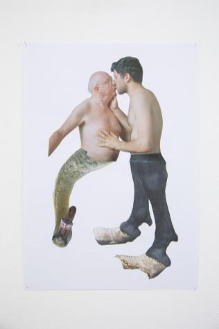 Eva Hide, Kiss me,collage,2017, 35x50
