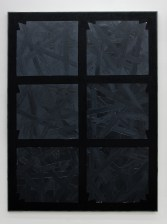 STEFANO CUMIA, Black Heat (SCP-GR-N-1), 2017, Oil on linen; 200 x 150 cm