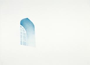 Leila Mirzakhani, Finestra, matita su carta, 56x77cm, 2017