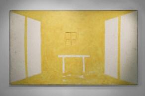 Art City - Gianni Dessì, Studio Giallo, 2003, olio ed encausto su tela, cm 223x383