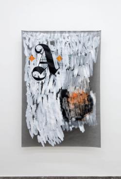 Massimo Stenta, A, acrilico su poliestere, 171x115 cm, 2017