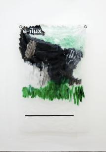 Massimo Stenta, e-flux, acrilico su poliestere, 178x116 cm, 2017