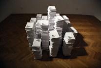 """Jessica Japino, """"MY NAME IS OMAR"""" installazione, 2018, carta, inchiostro, dimensioni variabili"""