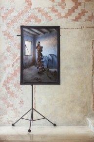 Mezzà, stampa su tela hahnemühle, stativo, riflettente argento, 80 × 120 cm