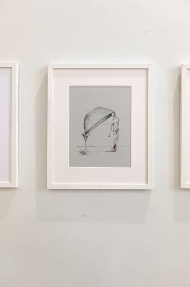 Senza titolo (disegno), 2017, inchiostro su carta, 25 × 32 cm
