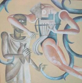 Piero Paladini, medioevo contemporaneo n¯ 1 70x70 2015 acril su yuta