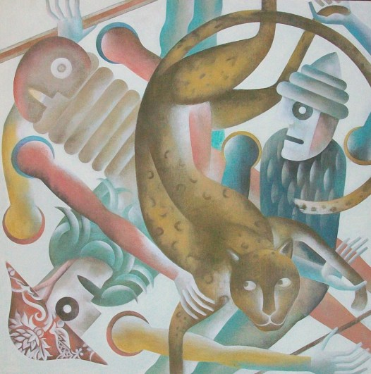Piero Paladini, medioevo contemporaneo n ¯ 3 100x100 2016 acr su yuta