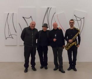 Performance di musica e parole con Davide Ragazzoni, Massimo Donà, Tommaso Trini, Michele Polga - © A arte Invernizzi, Milano. Foto Mattia Mognetti, Milano