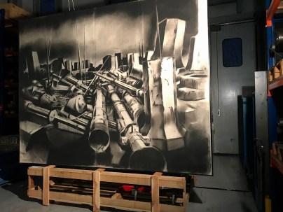 Jonathan Guaitamacchi, 2018 politecnico bovisa _ 1997 macchine della luce - cm 270X350 COLL. CGIL LOMBARDIA