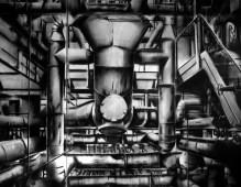 Jonathan Guaitamacchi, 2018 politecnico bovisa _ 1997 macchine della luce - cm 350x400 - COLL.CGIL NAZIONALE