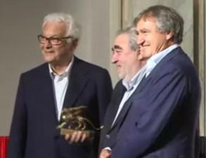 Souto De Mora al centro durante la premiazione, 16. Mostra Internazionale di Architettura
