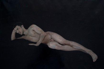 Alberto Torres Hernandez, Wolf Long, olio su tela, 50 x 75 cm, 2016