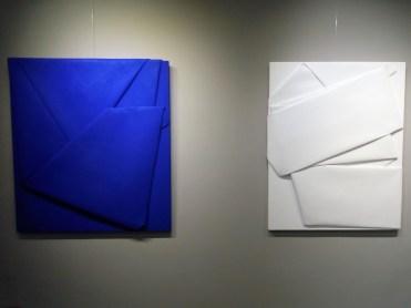 Cesare Berlingeri, Piegare oltre mare e Sul bianco piegato, 2015