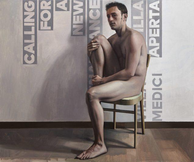 Orquín/Velazquez. 100 x 120 xm 2017, olio su tela