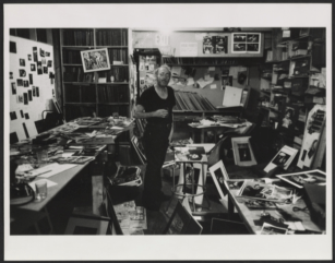 "W. Eugene Smith in his workroom © Arnold Crane, ""Portraits of the Photographers,"", 1968-1969. Archives of American Art, Smithsonian lnstitution"