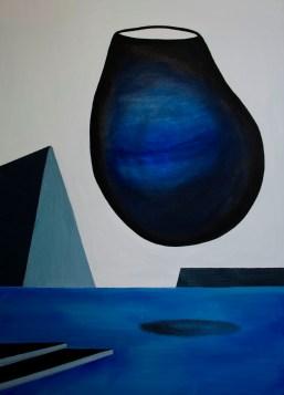 Antiforma,2018. Acrilico e olio su tela, 90 cm x 50cm