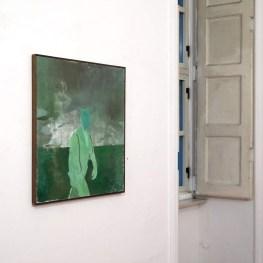 An tríú fear (El Tercio), 2018. Oil on canvas, 81x73cm. Ph credit Colm MacAthlaoich