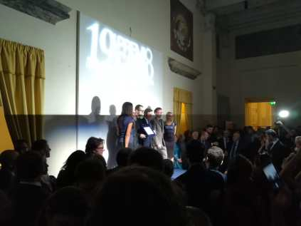 Fabrizio Cotognini è il vincitore della 19esima edizione del Premio Cairo. Palazzo Reale Milano. 15/10/2018