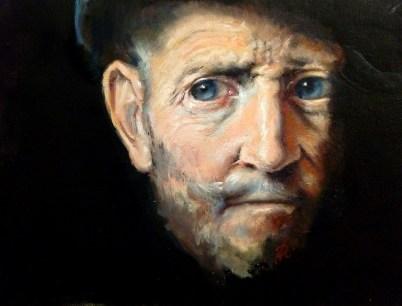 Josefina Ranzi Portrait of an old man olio su tela 2017 cm20x30