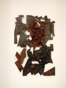 Manuel Rizzello, Ambrosie de fer, 2018, ferro brunito e saldato, cm. 100x66x0,5