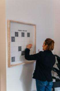 Patrizia Giambi-Crossword, 2018, matita su tela, cm80x80