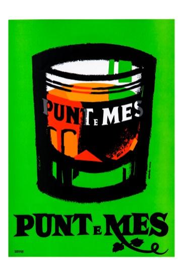 Punt e Mes - GoJo,1949,manifesto a colori fluorescenti su tela, 200x140, Collezione Gemma De Angelis Testa