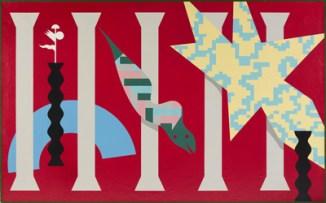 Alessandro Mendini, ST, 1986, nitro su tela, 195x150 cm