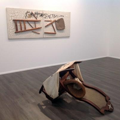 Antoni Tapies balanci i roba 1995 - cadira trencada 1993 - Timothy Taylor Gallery London