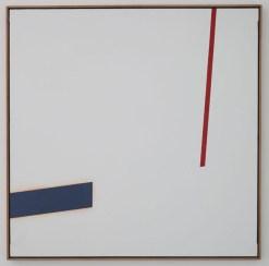Claudio Verna astrazione 1976 100x100 cm cat.457