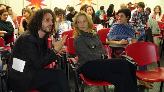 il Direttore dell'Accademia, docenti e studenti in Aula Magna