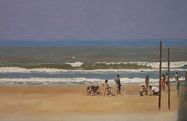 Giovanni Iudice, Il mare di Gela, 2015, olio su tela, 150x230 cm