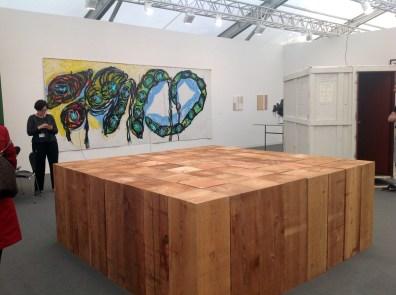 Konrad Fischer Galerie Dusseldorf - Carl Andre 8x8 Cedar Solid 2011