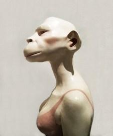 Monika Grycko, 'MONKEY WOMAN', 2015, terracotta, vetroresina, vetro, 70x50x45
