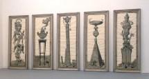Pablo Bronstein, Five Urns 2007, galleria Franco Noero