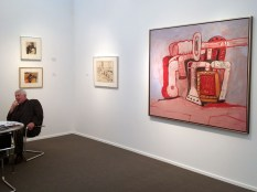 Philip Guston forms on rock ledge 1979 at McKee Gallery NY