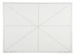 BOB LAW, TWO CROSSES CCCXXV 22.02.2000 (2000), 56 x 76.5 cm, pencil on paper