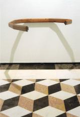 Juan Muñoz, Untitled (Barandal), 1993, Madera, 7,6 x 110,2 cm. Courtesy the artist and Pepe Cobo