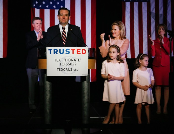 GOP Presidential Candidate Ted Cruz Holds Primary Night Gathering In Houston, Texas
