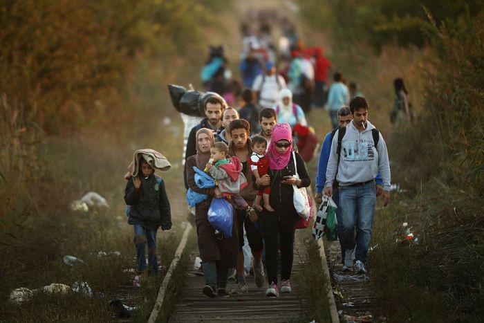 Migrants Make Their Way Towards Hungary