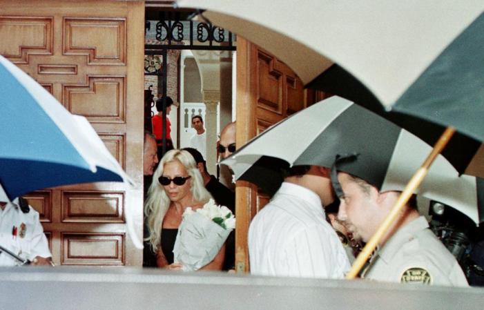 Donatella Versace, the sister of slain italian des