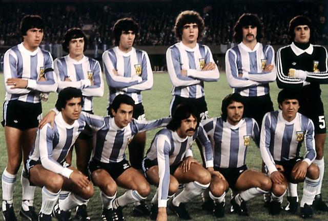 La Nazionale argentina prima di Argentina-Francia ai Mondiali 1978. Staff/AFP/Getty Images